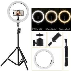 Luz circular Selfie grossista, 10 12 polegadas, 14 polegadas, 18 polegadas Selfie Telefone Círculo LED Live grande anel de luz com tripé