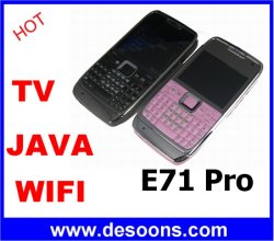 Toetsenbord van Qwerty van de Telefoon van TV van vlieg-Yiny E71 het PROWiFi Java Mobiele