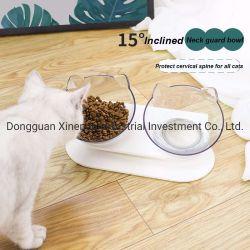 Großhandelspreis-doppeltes Plastikwasser u. Nahrungsmittelabendessen-Haustier-Katze-trinkende Filterglocke