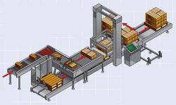 O sistema de fornecimento de cartões com Repalletizer adoptar para controlar o motor de travão