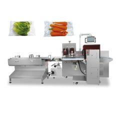 Saco Plástico automática das frutas e produtos hortícolas com bandeja e paletes de máquina de embalagem Embalagem