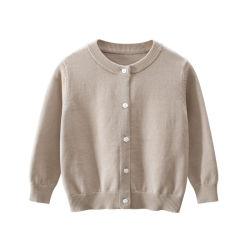 Детей свитера зимней одежды длинной втулки мальчика куртки малыша трикотажных изделий