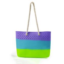 Borsa di moda grossisti Borsa colorata Borsetta in silicone da spiaggia