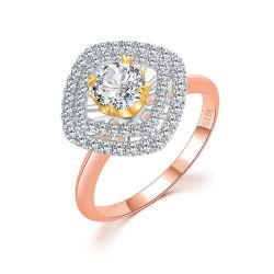 18K закрывается Gold Diamond кольца продается с ведущими точно производителя ювелирных изделий