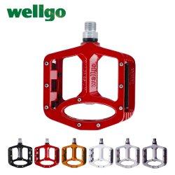 Wellgo MTB Pedals BMX용 밀봉 베어링 Bicycle Pedals 2개 로드 마운틴 바이크 페달의 넓은 마그네슘 합금 사이클링 페들