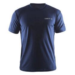 Stampa grafica all'ingrosso Plus Size personalizzata con logo Stampa vuota semplice a secco Montare la T-shirt