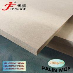 ISO FSC Fresh Poplar Core 중밀도 섬유판 라미네이트 멜라민 MDF 기본 HDF 일반 MDF