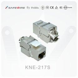 CAT6/CAT6A 110 IDC亜鉛合金によって保護される台形ネットワーク