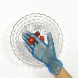 Синий/четких цветных виниловых одноразовые перчатки для обработки продовольствия/бытовые моющие