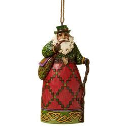 Amazon Hot Sale Creek Poolse Santa Claus Figurine Resin Hanging Vader Kerstversiering voor de kerstdecoratie
