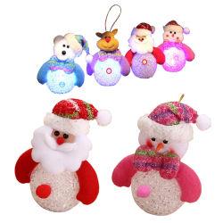 Decorações de Natal Crystal Pendente de Boneco de Neve Santa Plush Doll Ornament decoração festas em casa