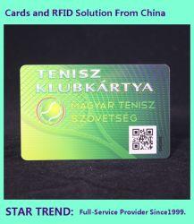 Plastic kaart met streepjescode voor Clublid