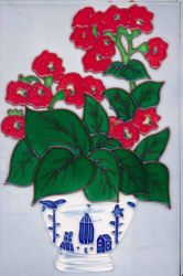 Handgemalte Keramikziegel-Abbildung