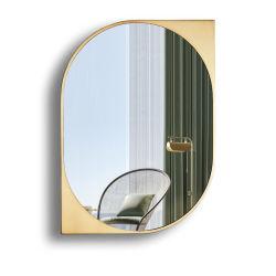 Pulido de los países nórdicos el bastidor de metal dorado placa Horizontal espejo irregulares