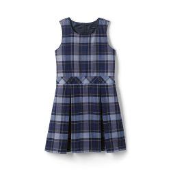 Customized Logo School Uniform Girls Uniform Plaid Jumper