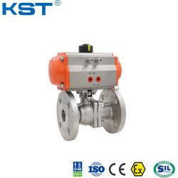 Пневматическим приводом фланцевый шаровой клапан из нержавеющей стали с SS316 материала