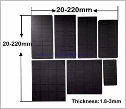 As células PV 0,1 0,5W 1W 2W 3W 5W Células Solares de resina epóxi de ETFE Pet Fosco mini-painel solar para 1V 3V Carregador de pilhas de 3,3V