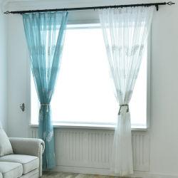 Полиэстер чисто Voile шторки окна с пером вышивка