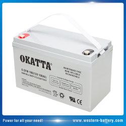 12V/100ah深サイクルVRLA/SLA/AGM産業UPS/Backup/Telecom/Inverter力の記憶太陽パネルシステム電池