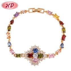 Le design de mode de Dubaï en plaqué or 18K Zircon Bijouterie de fantaisie bracelet