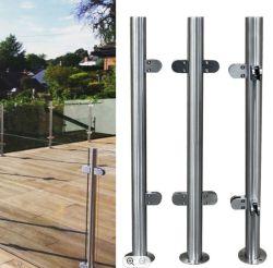 OEM/ODM metalen roestvrijstalen frameloze glazen balustrade/baluster/leuning/reling met glazen klem Voor Balkon/Spiral Stairs/Indoor Stairs door China Factory