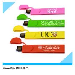حزام خصر من السيليكون الملون من نوع Bracelet، محرك أقراص USB محمول