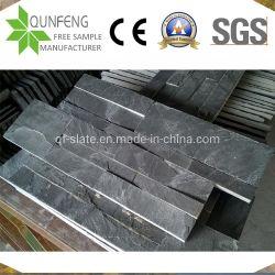 Piedra preta natural revestimento de paredes China Face dividido de ardósia pedra de Cultura