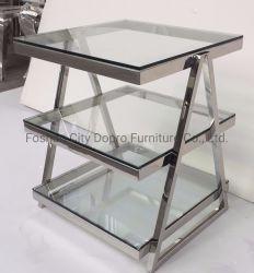 Elegante y moderno de estilo inglés desmontaje multifunción en acero inoxidable cristal Mesa Final