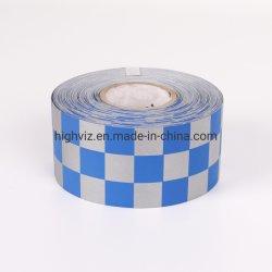 Tessuto stampato TC dell'argento per lo schema a reticolo dei vestiti di sicurezza