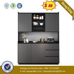 暗い灰色の側面のキャビネットの高いキャビネットの食堂の家具の記憶の台所食器棚