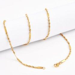 Venda por grosso de ouro de 18K 316L jóias de aço Cirúrgico Sem acessórios de metal Cadeia Anklet alérgicas novo bracelete trançado Colar para joalharia Maker