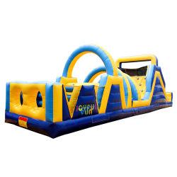 Giochi gonfiabili commerciali materiali 2020 di corsa ad ostacoli di vendita della fabbrica di alta qualità della tela incatramata calda del PVC per i capretti e gli adulti