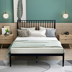 호텔 침실 금속 침대 스틸 싱글 메탈 침대 싸구려 다리미 침대 판매