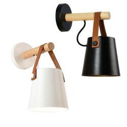Lampada da parete di legno di lampada dello schermo della casa della decorazione LED dell'indicatore luminoso nordico moderno della parete