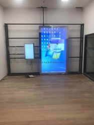 98-дюймовый ЖК-дисплей плеера рекламы сенсорный экран киоск со светодиодной подсветкой Волшебное зеркало