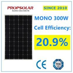 Monocromático de Alta Eficiência Perc 300W Módulo gerador de energia solar para Kits