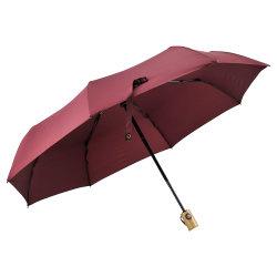 自動近く木のハンドルが付いているFoldable傘を広告することを開きなさい
