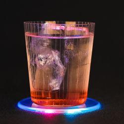 La cuvette de lumineux LED mat Acrylique Crystal Coaster Cocktail Bar Flash barman d'éclairage Coaster lampe de base