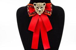 Fashion Rhinestone Long ruban Big Bowknot shirt col Bow d'épingles de cravate Accessoires bijoux de mode (BR-26)