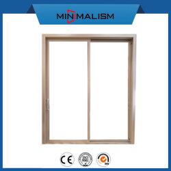 Stile di alluminio dell'Europa del portello di vetro di scivolamento con la maniglia per la Camera