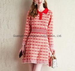 패션 레이디스 폴로 셔츠 칼라 스포츠 웨어 나이팅 의류 스웨터 스트라이프 드레스복