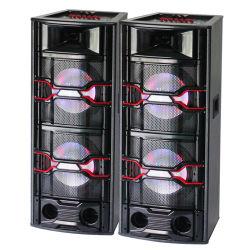 """12"""" Twins algumas colunas activas Bluetooth Altifalante portátil de alta potência de música ao ar livre Parte Karaoke Audio Mixer de som do altifalante com sistema Wireless LED Mic"""
