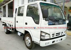 vrachtwagen van de Cabine Isuzu van de Vrachtwagen van 120HP Isuzu 3t-5t de Kleine Flatbed Kleine Dubbele voor Vraag van de Verkoop/Whatsapp 0086 15897603919