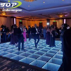 광저우는 3D 유리제 무한대 감압성 전기 LED DJ 지구 선잠기 댄스 플로워를 조명했다