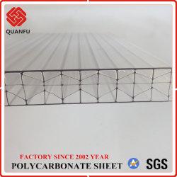 Holle Blad van de multi-Muur van het Polycarbonaat van de Structuur van China Quanfu het Sterke voor de Bouw