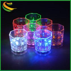 ضوء نشط سائلة أعلى لون تغيير الزجاج LED كوب
