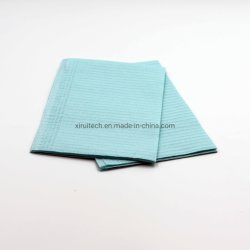 Hospital에 있는 파란 Paper Disposable Waterproof Dentist Towel 2 Ply 125 Units Dental Bib Pad