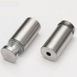 Ao redor da borda rosqueada aderência em aço inoxidável Assinar Vidro Titular do suporte do parafuso de fixação do Ressalto