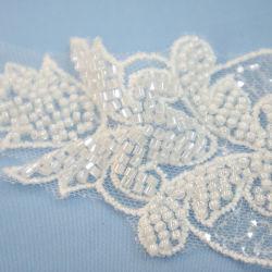 Одежда устраивающих платья оформление рельефная Sequin белого цвета кузова