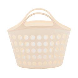Портативные пластиковые прачечная препятствуют одежду Storgae органайзера корзину с помощью рукоятки